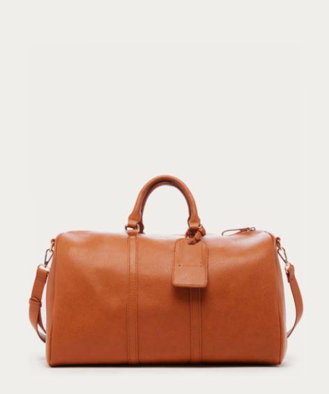 Cassidy Weekender Leather Duffle Bag Vegan Weekender Bag Leather Duffel Bag