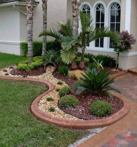 52 Super Ideas Palm Tree Garden Ideas Front Yards Landscape