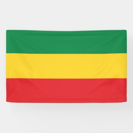 Green Gold Yellow And Red Colors Flag Banner Zazzle Com In 2020 Flag Banners Black Pride Flag Colors