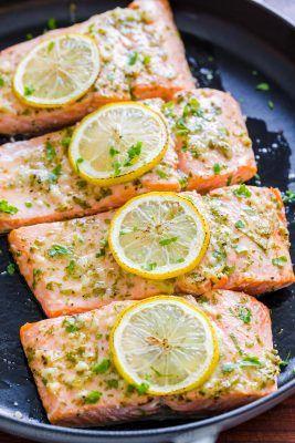 Baked Salmon with Garlic and Dijon (VIDEO) - NatashasKitchen.com