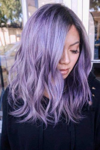 36 Light Purple Hair Tones That Will Make You Want To Dye Your Hair Light Purple Hair Purple Hair Dyed Hair Purple