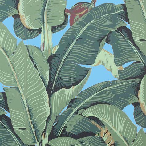 The Iconic Beverly Hills™ Banana Leaf Wallpaper - Malibu Blue - Sample
