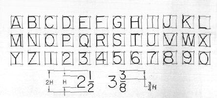 engineering lettering