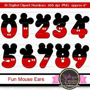 Minnie Mouse Clipart Numbers Ears Red Black Age Digital Clip Etsy In 2021 Minnie Mouse Clipart Mickey Mouse Clipart Mickey Mouse