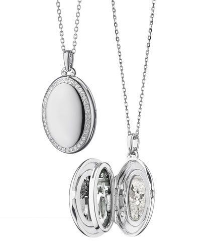 Monica Rich Kosann Midi 18k Gold Oval Locket Necklace cCD8G0UmPI