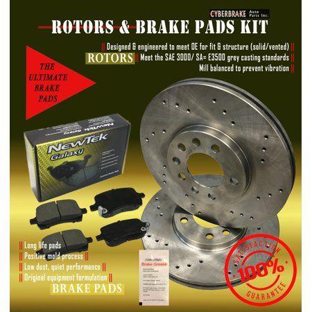 Dk1139 5d Front Brake Drilled Rotors And Ceramic Pads Walmart Com Brake Pads And Rotors Best Brake Pads Pad