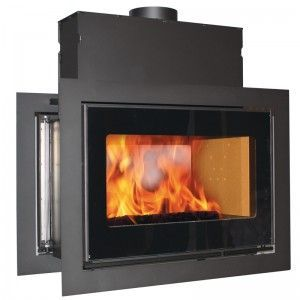 Scan Dsa 12 Wood Burning Double Sided Built In Stove Home