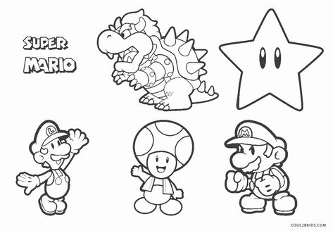 super mario brothers coloring page awesome free printable
