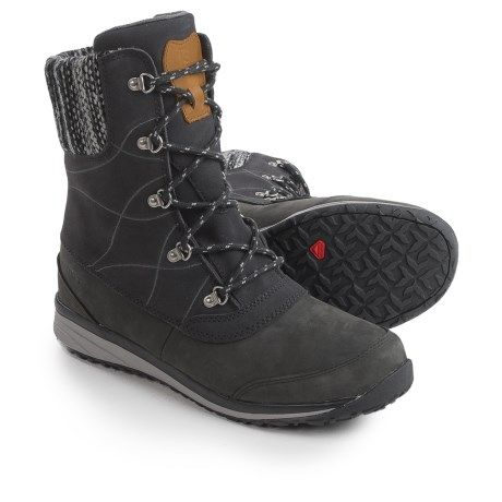 affordable price san francisco buy Salomon Hime Mid Leather Climashield® Snow Boots - Waterproof ...