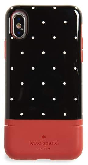 premium selection c9f8f 7813d Kate Spade dot iPhone X & Xs case & card holder | Products | Iphone ...
