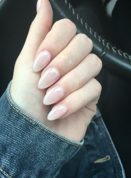 Nails Acrylic Clear Matte 28 Ideas Natural Acrylic Nails Acrylic Nails Almond Short Clear Acrylic Nails