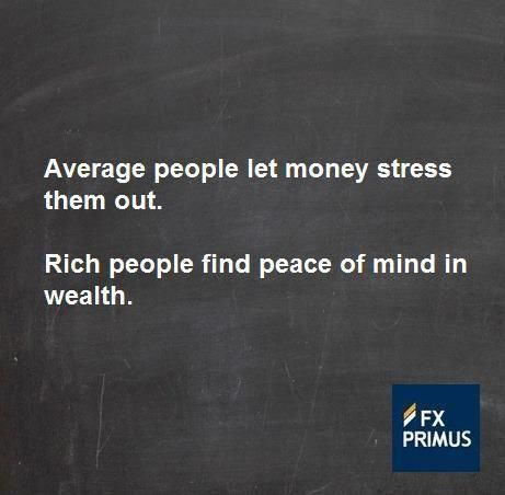 Average people let money stress them out  Rich people find