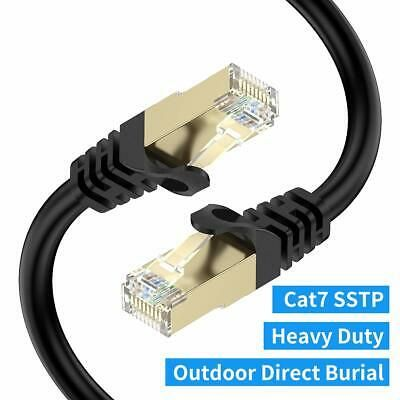 Sponsored Cat7 Ethernet Cable 75ft Bifale Cat7 Outdoor Cable Triple Shielding Sstp 10gb Ethernet Cable Modem Router Cable