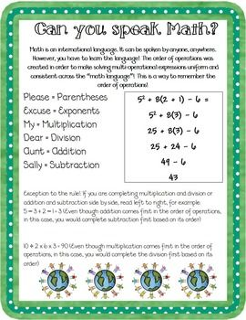 Order Of Operations Lesson Pack Evaluating Expressions Order Of Operations Math Word Problems