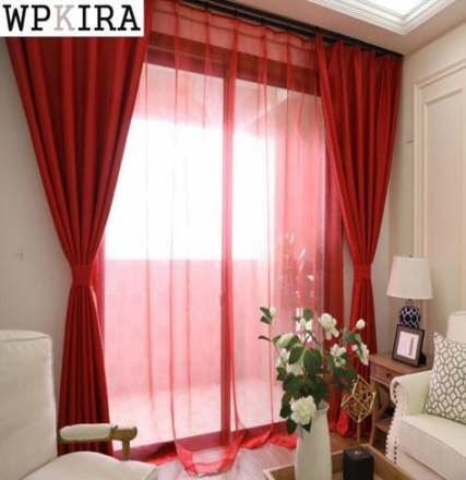 18 Ideas Kitchen Window Curtains 2019 For 2019 Red Curtains Living Room Curtains Living Room Living Room Red