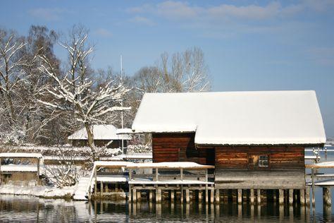 Winterwetter am Chiemsee und im Yachthotel #Chiemsee #Hotel #Prien #Winter #Chiemgau