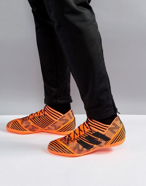 fcee28f4a50 adidas Soccer Nemeziz Tango 17.3 Indoor Sneakers In Orange BY2815 - Or