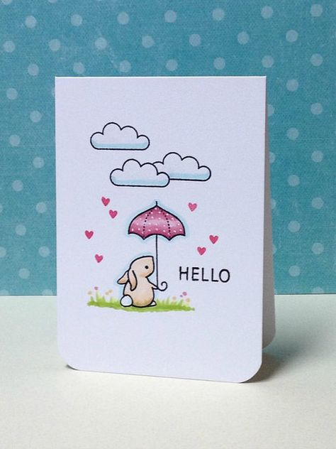 "Lawn fawn ""Hello Baby"" Card by Donna Mikasa Lawn Fawn Blog, Lawn Fawn Stamps, Pintura Country, Get Well Cards, Animal Cards, Watercolor Cards, Copics, Scrapbook Cards, Scrapbook Frames"