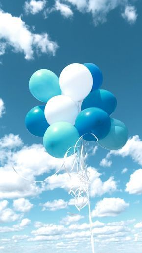 Blue Balloons Blue Aesthetic Pastel Blue Aesthetic Light Blue Aesthetic