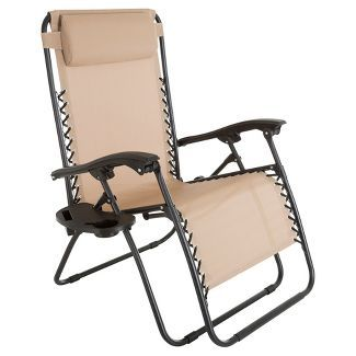 Oversized Zero Gravity Chair With Pillow And Cup Holder Pure Garden Click Image To Visit The Store And Patio Lawn Chairs Zero Gravity Chair Pure Garden