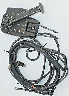 Mercury Quicksilver Gen I Side Mount Shifter 8 Prong Cannon Plug No Trim Tilt