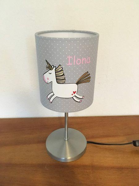 Tischlampen Tischlampe Einhorn Mit Namen Ein Designerstuck Von Klabauterlampen Bei Dawanda Einhorn Lampe Tischlampen