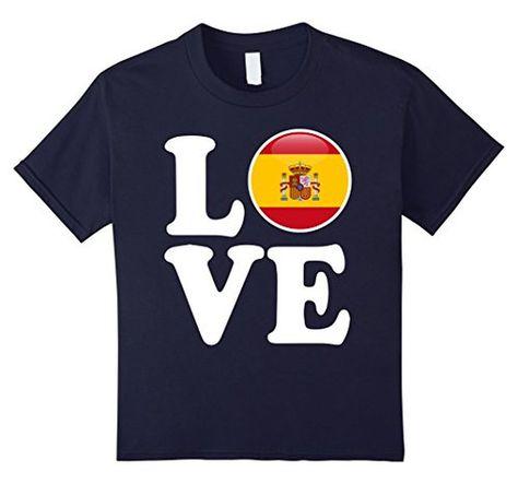 Spain T-shirt Love Espana Flag Football Futbol Bandera