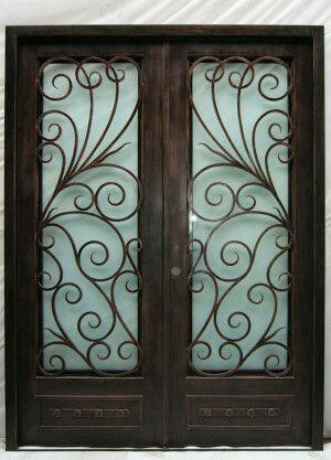 Wrought Iron Door El984 With Images Wrought Iron Doors Iron