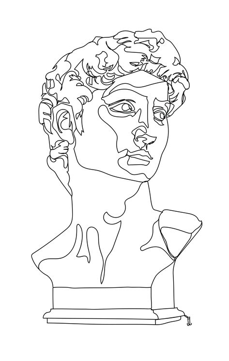 Art Drawings Sketches, Tattoo Drawings, Contour Drawings, Drawing Faces, Indie Drawings, Contour Line Drawing, Drawing Hair, Gesture Drawing, Drawing Drawing