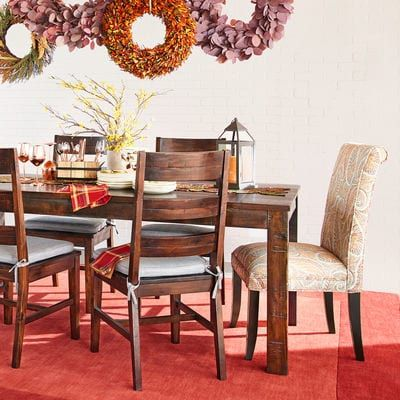 Parsons Tobacco Brown Dining Tables Dining Table Dining Dining Chairs