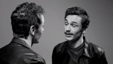 James Franco kiss himself mirror flirt