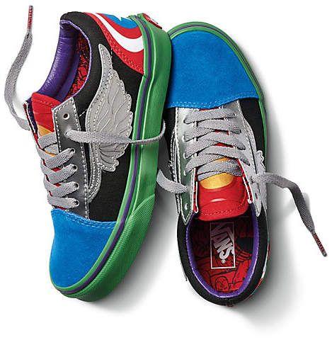 Vans X Marvel Kids Old Skool   Shop At