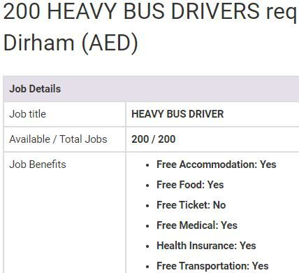 Heavy Bus Driver Jobs In Uae 2019 Driver Job Job Helper Jobs