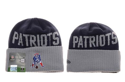 Mens   Womens New England Patriots New Era Navy   Heather Gray NFL Throwback  Cover Cuffed Knit Beanie Hat f016513b76