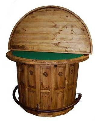 Captivating Rustic Half Moon Circle Poker Bar And Table Solid Wood Free Shipping   EBay    Rec Room   Lounge   Pinterest   Poker, Solid Wood And Bar