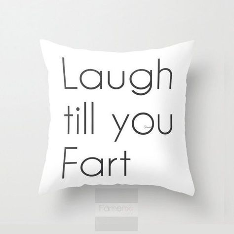 Funny Humorous Throw Pillow Case. Funny Fart Pillow Cover