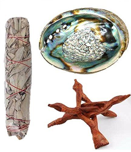 Clarity Muse Smudge Sage Home Blessing Kit One 7 Inch California White Sage Smudge Stick A Premium 5 6 Inch Abalone Shell And A 6 Inch Wooden Stand Review White