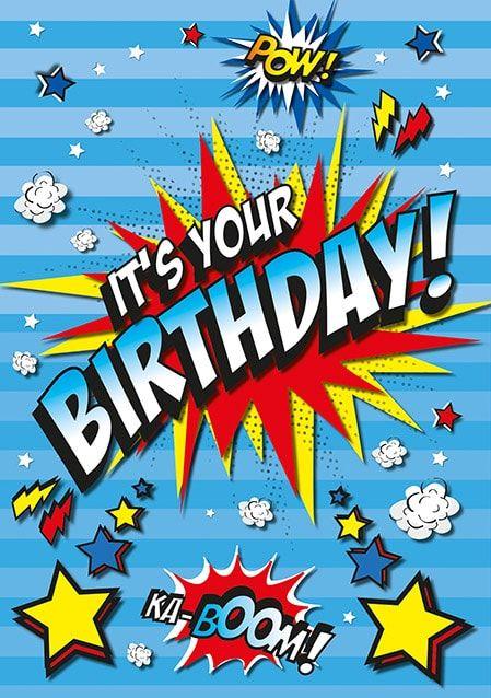 It S Your Birthday Card Happy Birthday Boy Happy 11th Birthday Happy Birthday Greetings