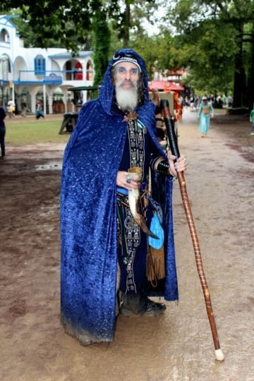 Wizard at the Texas Renaissance Festival