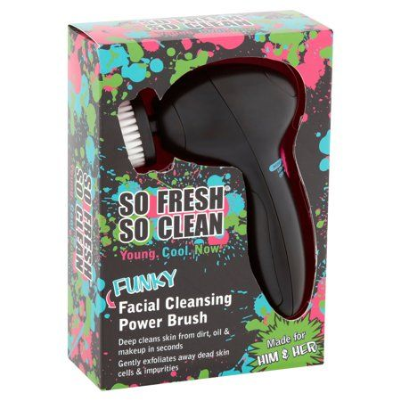 So Fresh So Clean Funky Facial Cleansing Power Brush Walmart Com Facial Cleansing Deep Clean Skin Electric Facial Cleanser