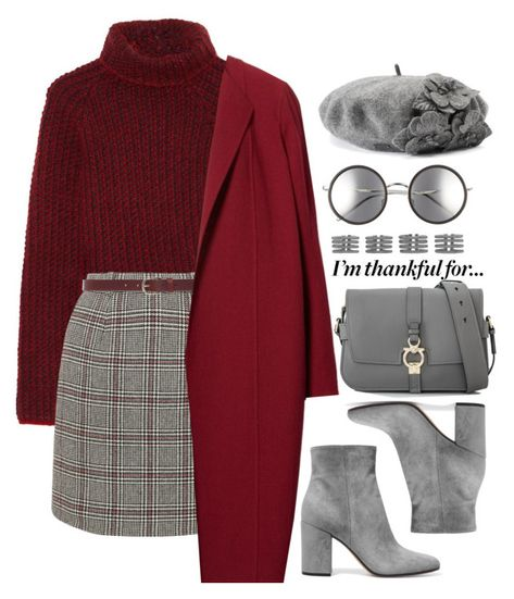A fashion look from November 2017 featuring etro sweater, Lafayette 148 New York and grey mini skirt. Browse and shop related looks. Teenager Fashion Trends, Teen Fashion Outfits, Look Fashion, Korean Fashion, Winter Outfits, Spring Outfits, Modest Fashion, Trendy Fashion, Cute Casual Outfits