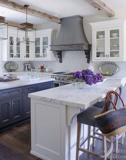 French Country Kitchens, French Country White Cabinets