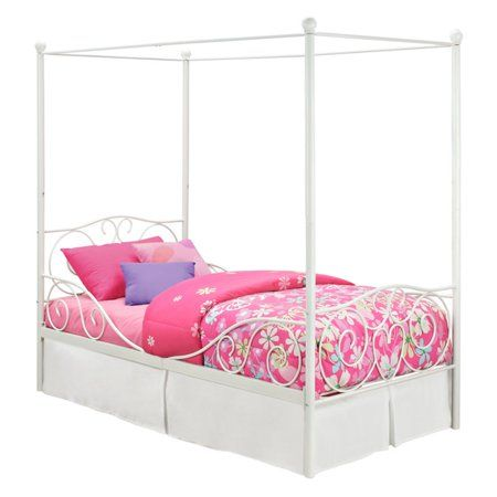 Dhp Canopy Metal Bed Multiple Sizes Multiple Colors Twin