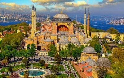متحف آيا صوفيا في اسطنبول تركيا Hagia Sophia Blue Mosque Istanbul Hagia Sophia Istanbul
