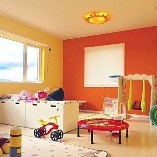 畳 トンネル オレンジ壁紙 黄色壁紙 子供部屋 などのインテリア実例 2017 02 01 12 19 19 Roomclip ルームクリップ インテリア 子供部屋 プレイルーム