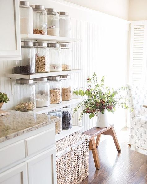My Summer Home Tour 2015 | Farmhouse kitchens, Display and Storage ideas