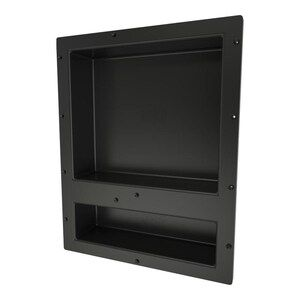 Redi Niche Double Recessed Shower Shelf Black Two Inner Shelves With Divider 16 Inch Width X 20 Inch H Recessed Shower Shelf Shower Niche Tile Shower Niche