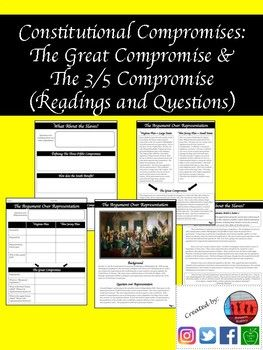 Constitutional Convention Activities Great Compromise 3 5