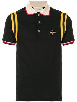 bee patch polo shirt | Mens designer polo shirts, Mens designer ...