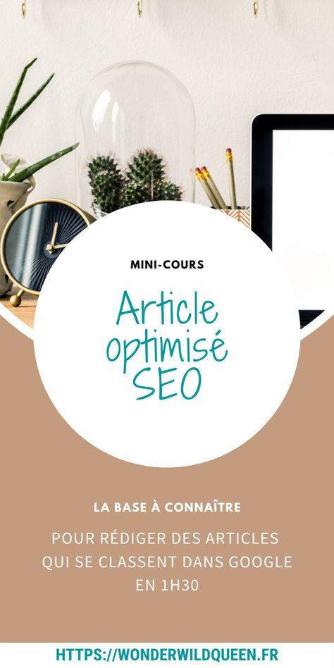 Mini-Cours | Rédiger un article optimisé SEO pour les débutants - WONDER WILD QUEEN